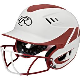 Rawlings Sporting Goods Senior Velo Sized Softball Helmet, White Orange