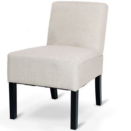 Armless Contemporary Upholstered Seat Single Dining Chair