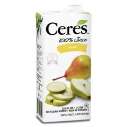 Ceres 100% Fruit Juice Blend, Pear, 33.8 Ounce (Pack of 12)