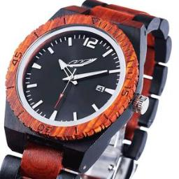 Men's Personalized Engrave Ebony & Rosewood Watches - Free C