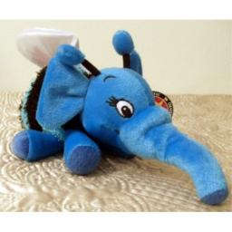 Retired Hard to Find Disney Winnie the Pooh 9 Inch Plush Wuzzle Huffalump Blue Elephant Bumble Bee Plush Doll