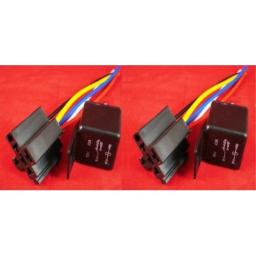 BARGAINSHORE 2 SETS 40Amp Relay and 5 wire socket for DC SPDT installations