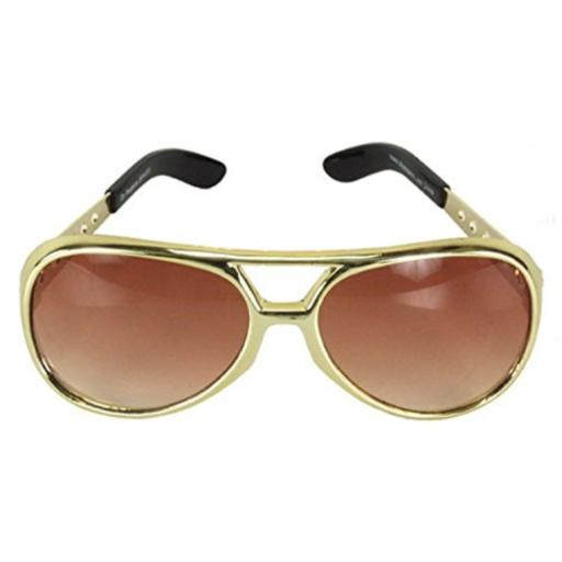 Classic TCB Elvis Celebrity Style Aviator Sunglasses .1% Protection Against Harmful UVA/UVB Rays.Replica Elvis Frame Design.Great For Parties and Costumes.Metal Arms and Hinges.