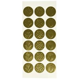 Geographics Self-Adhesive Embossed Seals, Gold, 54 per Pack (45204)