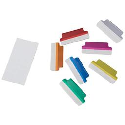 ADVANTUS Self Adhesive Index Tabs with Inserts, 16 Tabs, Assorted Colors (Z06014)
