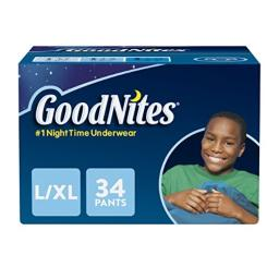 Goodnites Bedwetting Underwear for Boys, Large/X-Large (60-125+ lb.), 34 Ct (Packaging May Vary)