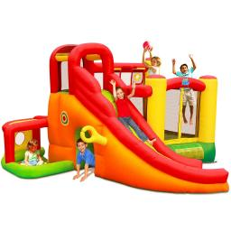 780W Blower Kids Inflatable  Slide House Castle Jumper Bouncer