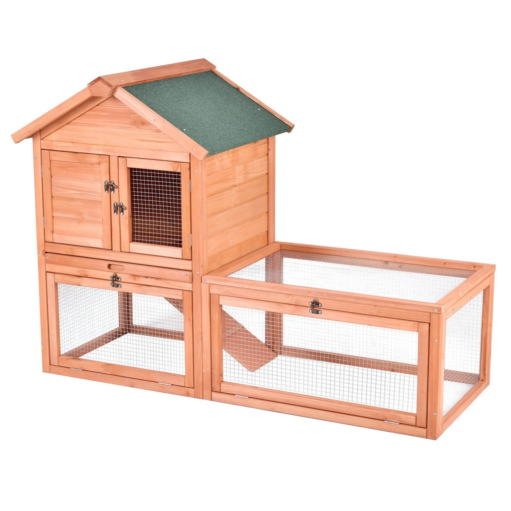 """56 Pet Supplies Wooden House Rabbit Hutch Chicken Coops Cage"""""""