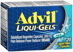 Advil Pain Reliever/fever Reducer Liqui-gels 200mg - 20 Ct
