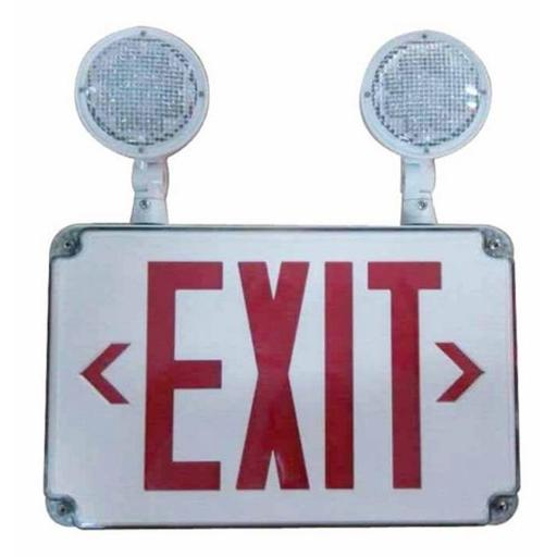 Morris 73458 LED Wet Location Combo Exit Signs Emergency Light Legend Remote Capable, Red 6C82D9D9226F75A6