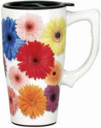 Spoontiques 12869 flowers travel mug