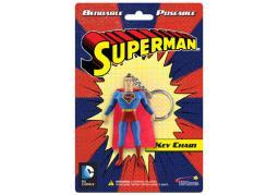 Superman bendable keychain 3 inch nla KRB3902
