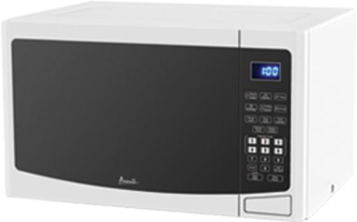 1.2 CF Touch Microwave - White 1.2 CF Capacity 1000 Watts of Cooking Power Touch Pad Control Convenient Cooking Controls 6 Pre-Set Menus - Potatoe - Popcorn - Pizza - Beverage - Frozen Dinner - Reheat 10 Microwave Power Levels Weight Defrost Push Button Door Opener Cookin