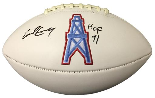 Earl Campbell Signed Houston Oilers Logo Football HOF 91 JSA UXBNLKDSPXSIY62H