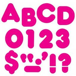 Trend Enterprises T-477BN 4 in. Deep Pink Casual Ready Letters - Pack of 6