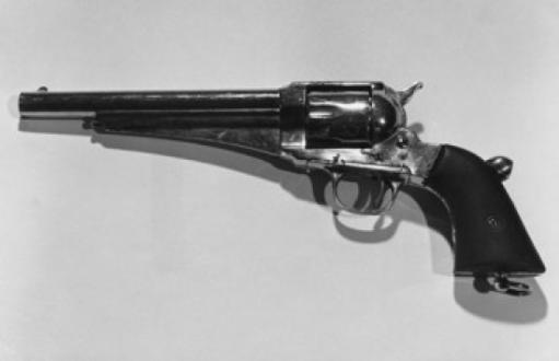 Close-up of a Remington Army Revolver Poster Print