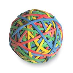 Acco Brands- Inc.  Rubber band Ball- 275-Ball- Assorted Colors