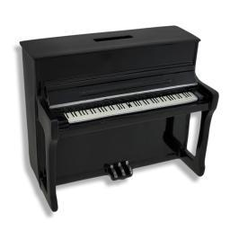 Black Upright Piano Coin Bank