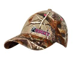 Rocky Western Hat Womens Camouflage Cap Pink Logo OX Brown LW00054 LW00054