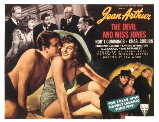 The Devil And Miss Jones Robert Cummings Jean Arthur 1941. Movie Poster Masterprint XXBAFQFWZ5ZAVFAP