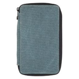 Canvas Pencil Case Steel Blue, Capacity 24