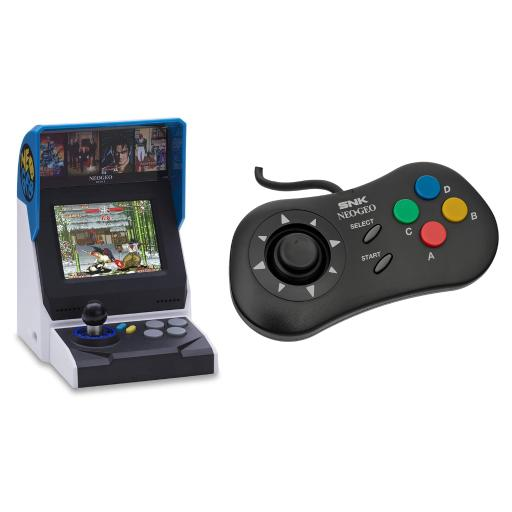 NEOGEO Mini International Video Game Console with 40 Games and Black Mini PAD Controller