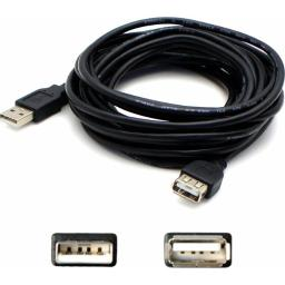 Add-on usbextaa6 addon 1.82m (6.00ft) usb 2.0 (a) male to female black extension cable