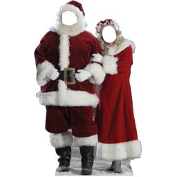 Advanced Graphics 896 Santa And Mrs. Claus Stand-In Life-Size Cardboard Stand-Up