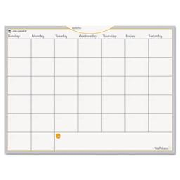 At-A-Glance AW502028 WallMates Self-Adhesive Dry Erase Monthly Planning Surface, White, 24 in. x 18 in.