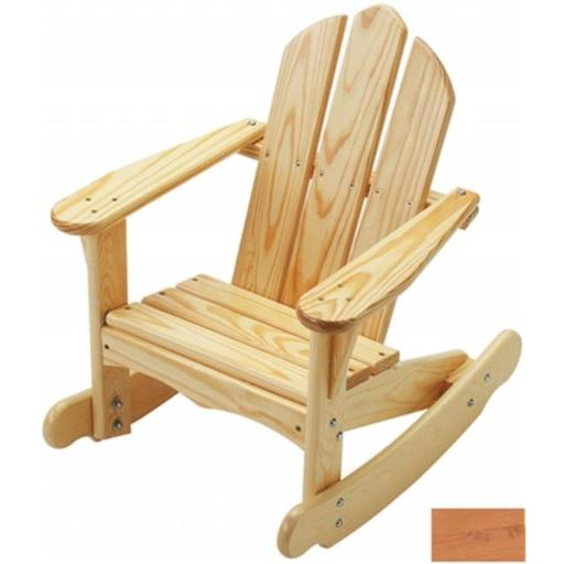 Little Colorado 141NA Childs Adirondack Rocking Chair in Natural