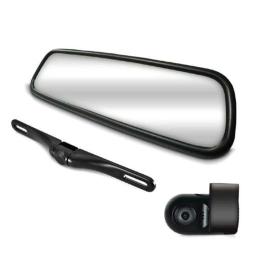 Pyle PLCMDVR77 HD Video Recording System with Rearview Mirror Monitor LCD Display Compact Dash Camera & Rear-View Backup Camera - 7.4 in.