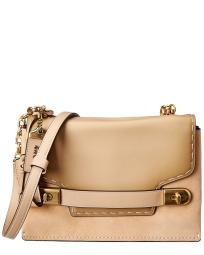 Coach Swagger Chain Leather & Suede Crossbody