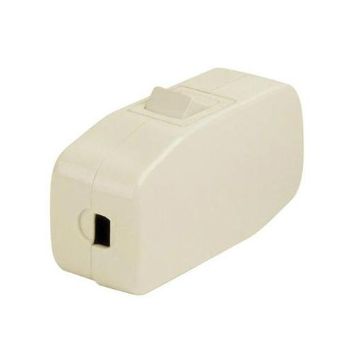 Leviton C21-05410-00i Heavy Duty Inline Cord Switch, Ivory