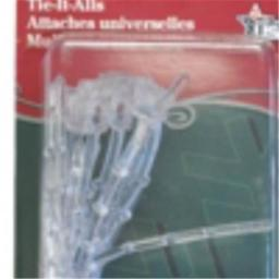 Adams 449736 Tie-it-all, Clear - 10 Count