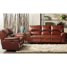 CMF 98535A2PC-BR 2 piece Charleston Living Set Sofa Loveseat - Brown