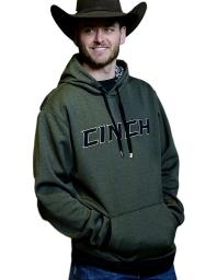 Cinch Western Sweatshirt Mens Hoodie Pocket Heather Olive MWK1206004 MWK1206004