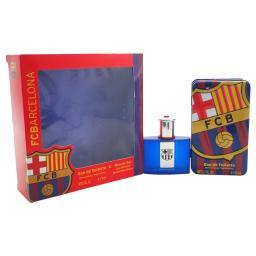 Air-Val International Fc Barcelona By Fc Barcelona For Men - 3 Pc Gift Set 2 X 0.51Oz Edt Spray, Stickers  2 Pc Gift Set