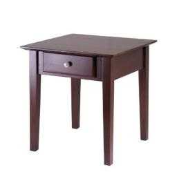 Winsome 94821 Rochester End Table with one Drawer Shaker- Antique Walnut