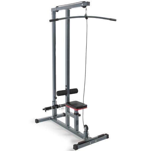 Akonza© Multi-Function Pro Lat Pulldown Machine with Low Row Bar Cable Fitness Equipment