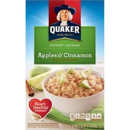 Quaker Apples & Cinnamon Instant Oatmeal Hot Cereal