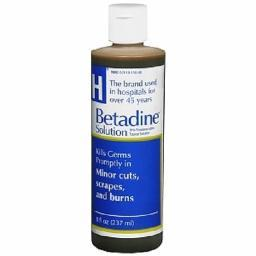 Betadine Antiseptic Solution, For Burns, Cuts, and Scrapes