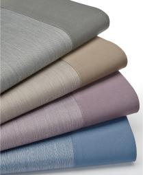 Charter Club 550 Thread Count Reversible Queen Fitted Sheet Hyacinth Purple
