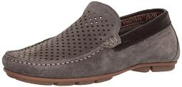 ara Men's Merrick Driving Style Loafer, Taupe Suede, 46 M EU (12 US)