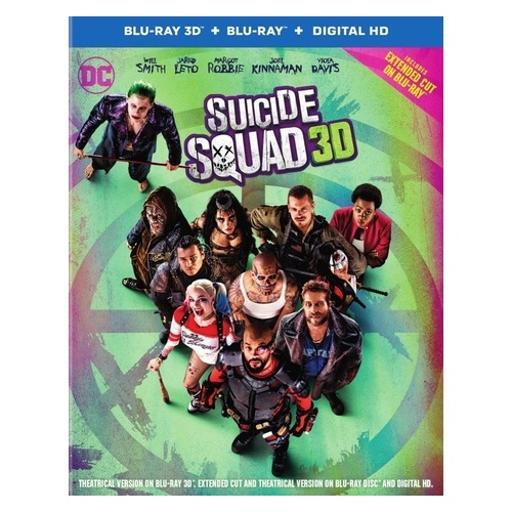 Suicide squad (blu-ray/3-d/2016/digital hd/ultraviolet/3 disc) (3-d) 1490965