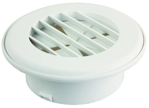 Jr Products Hv4Dpw-A Heat Vent 4In Dampered Polar White