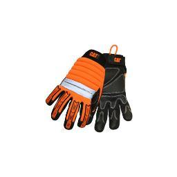 Cat  merchandise cat5000l high visibility high impact gloves with reinforced palm  large