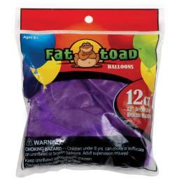 "Fat Toad Balloons Round 12"" 12/Pkg Deep Purple"