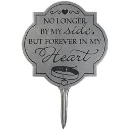 Carson Home Accents 14884x 11 X 8.25 In. Garden Stake Pet, Forever In My Heart - Statesmetal