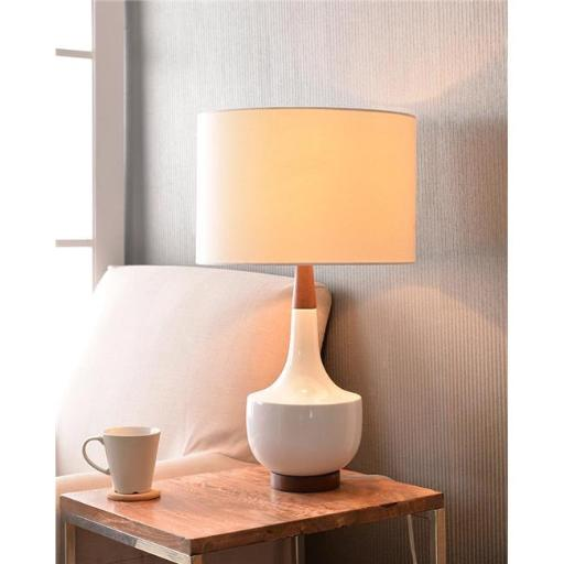 Kenroy Home 33181WH 15 x 26 in. Tessa Table Lamp - White Glossy Ceramic