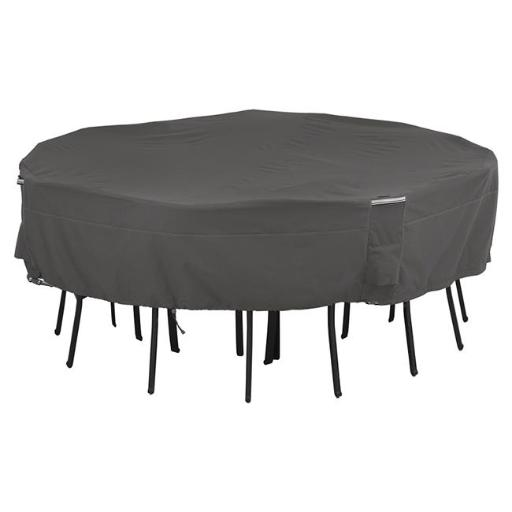 Classic Accessories 55-710-015101-EC Ravenna Patio Square Table And Chairs Cover, Medium & Large - Taupe